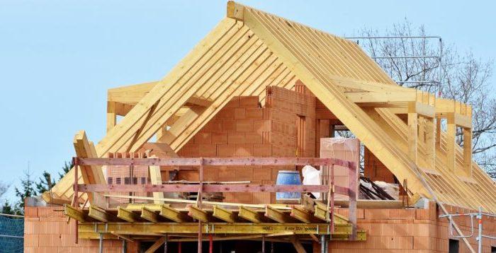 Toiture maison en construction